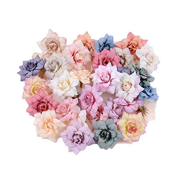 JHOOOD Flores De Seda Artificial Pequeña a Granel Cabezas De Flores De Tela Sintética Pétalos De Margaritas Artificiales…