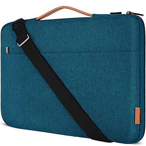 DOMISO 15.6 Zoll Laptop Tasche Hülle Wasserdicht Stoßfestes Notebook Sleeve Case Schultertasche für 15.6' HP 15/ThinkPad E575/Lenovo IdeaPad S510/Dell XPS 15/Samsung Notebook Odyssey,Teal