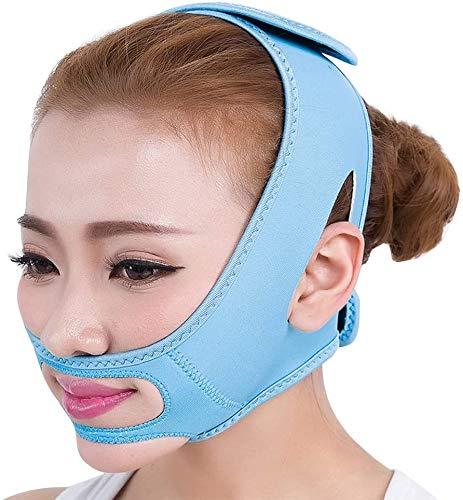 QAZXCV Double Menton Réducteur, Bandage Sommeil Masque Visage Mince, Minceur Visage Masque Petit V Levage Mince Muscle Masséter Chin Gratuit Taille 1 Paquet