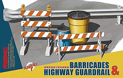 Meng Model 1:35 - Barricades and Highway Guardrail