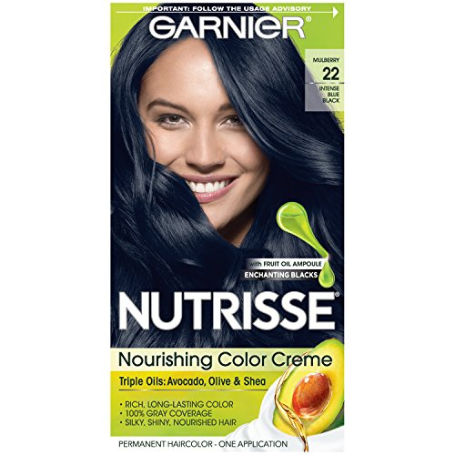 Garnier Nutrisse Nourishing Color Creme Nourishing Color Creme 22 - Intense Blue Black (Packaging May Vary)