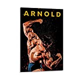 SDFERG Póster de Arnold Schwarzenegger Fitness (50 x 75 cm)
