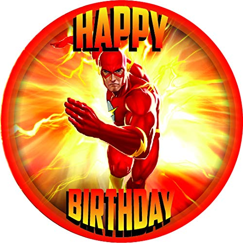7.5 Inch Edible Cake Toppers – THE FLASH (DC COMICS) PARTY Themed Birthday Party Collection of Edible Cake Decorations