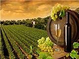 CYSGJ Puzzle pour Enfants Adultes Puzzle 1000 Pièces -Vin Rouge Et Terres Agricoles - Cadeaux De Décoration Moderne avec