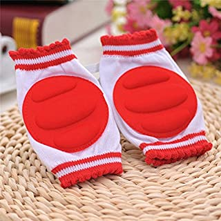 2 Pairs/lot Red Baby Leg Warmers Pads Cotton Baby Greave Safety Crawling Elbow Cushion Toddlers Knee Protector Baby knee Pads Kids