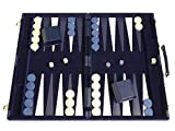 Middleton Games Deluxe Backgammon Set - Board Game (Blue - 18'x12')