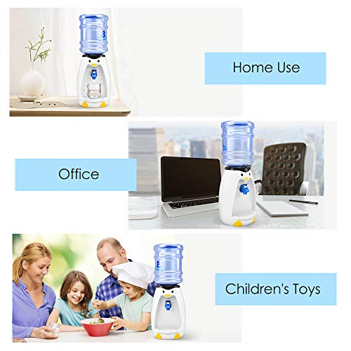 2.5L Mini Cute Penguin Water Dispenser with Water Bucket Drink 8 Glasses of Water for Home Office Student Dorm Kids…