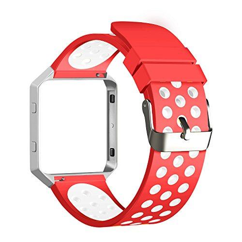 Correa para Fitbit Blaze, sílice Gel suave silicona ajustable moda deporte banda correa de repuesto para Fitbit Blaze Smartwatch corazón tasa Fitness pulsera