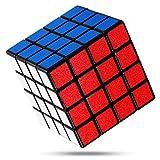 FAVNIC キューブ 立体パズル【6面完成攻略書付き】競技用 ポップ防止 知育玩具 (滑り止め 4x4)