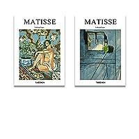 Henri Matisseポスターとプリント抽象的な壁のアートビンテージフィギュアキャンバス絵画モダンな写真のための居間家の装飾40x60cmx2いいえフレーム Stock