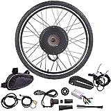 48V Kit de conversión de bicicleta eléctrica, 20',24',26',27.5,28',29',700C pulgadas Delantera Rueda/Trasera Rueda Kit de conversión de Bicicleta eléctrica con Batería de 48V/15Ah,500w rear wheel,28'