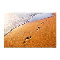 30x40 cm-Diamond painting beach footprints cross-stitch square rhinestone mosaic home decoration