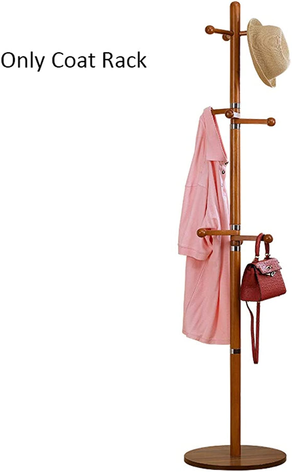 Rubber Solid Wood Coat Rack Bedroom Nordic Simple Racks redatable Hanger greenical Clothes Rack Creative Storage Rack