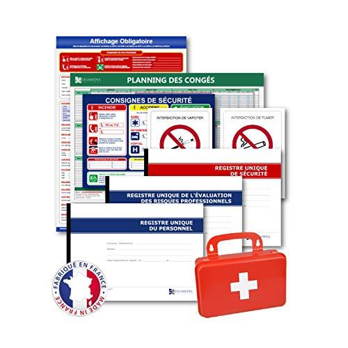 Pack affichages obligatoires, registres pour toutes entreprises. Conformité 2021 - Fabriqués en France