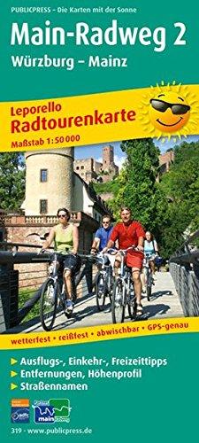 Main-Radweg 2, Würzburg - Mainz: Leporello Radtourenkarte mit Ausflugszielen, Einkehr- & Freizeittipps, wetterfest, reissfest, abwischbar, GPS-genau. 1:50000 (Leporello Radtourenkarte / LEP-RK)