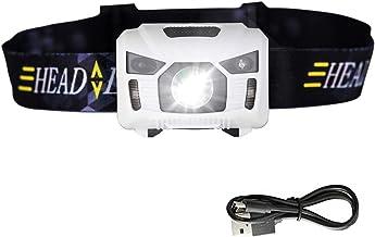 JSJJQAZ koplampen Bewegingssensor Koplamp Mini Koplamp Oplaadbare Outdoor Camping Zaklamp Met USB Opladen (Kleur: Wit)
