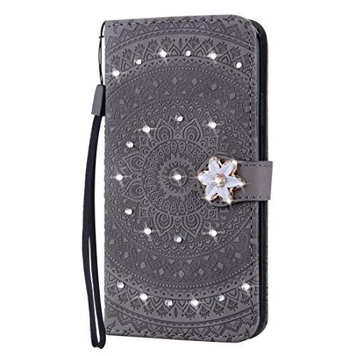 PROTECTIVECOVER+ / for IPhone 7/8 Impresión prensada Patrón de taladro Patrón de taladro Horizontal Flip PU Funda de cuero con soporte y ranuras tarjetas y Wallet & Lanyard , Fashion Phone Funda Para