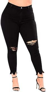 Cardigo Plus Size Womens Ripped Stretch Slim Skinny Denim Jeans High Waist Pants