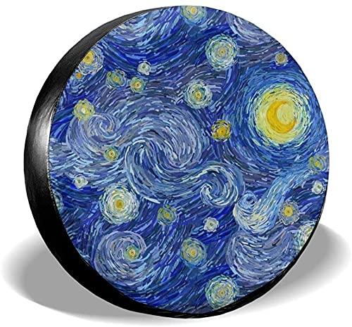 Starry Night - Cubierta para neumáticos de repuesto,poliéster,universal,de 16 pulgadas,para ruedas de repuesto,para remolques,vehículos recreativos,SUV,ruedas de camiones,camiones,caravanas,accesorio