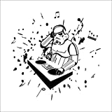 sticker mural Newest Science Fiction Film Star War Character Robot Rock Music DJ Home Decal Wall Stickers For Kids Room