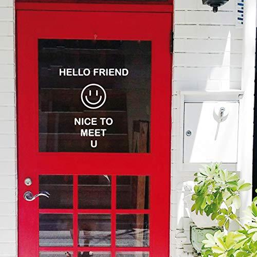 Literarische Lächeln Wandaufkleber willkommen zu kaufen Kaffee Kleidung Fenster Glastür Aufkleber 40cmx40cm