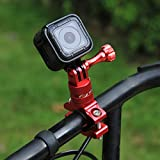 PULUZ 360 Grado Rotación Bicicleta de aluminio Bicicleta Adaptador de manillar Montaje con tornillo para GoPro HERO 6 / 5 / 4 / 3+ / 3/ 2/ 1 Sesión 5 / 4, Xiaoyi Sport Camera