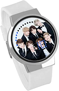 LLflow BTS Watch, Kpop Bangtan Boys Jungkook, Jimin, V, Suga, Jin, J-Hope, Rap Monster Touch Screen LED Luminous Watch for The Army