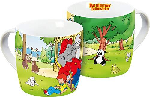 Benjamin Blümchen 13595 Zoo Tasse, Porzellantasse, Kaffeetasse, Porzellan, 250 milliliters