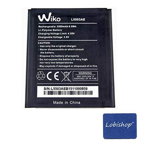 puissant Batterie d'Origine Lobishop Wiko L5503AE – Batterie Lithium Polymère 2500mAh 9,5Wh pour Wiko Rainbow 4G +…