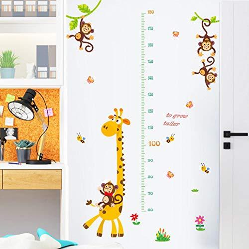 Uticon Wandaufkleber, Giraffe, Affe, Messlatte, Wandaufkleber, DIY, Kinderzimmer-Dekoration