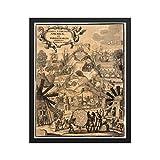 Gerahmtes Poster, Motiv: Scherer Südamerika-Karte 1703,