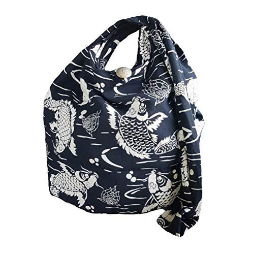 zaino donna hippie BTP! Absolute Black COY FISH Sling Bag Crossbody Borsa a tracolla Hippie Hobo Thai Cotone Gypsy Bohemian Large