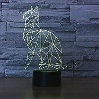 superniudbかわいい猫3dナイトライト7色変更LEDテーブルランプXmasおもちゃギフト SUPERNIUDB