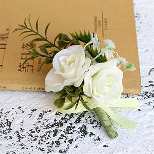 Bouquet de corpia de boda PORRIONES DE BODA Y BOUTONNIERES PARA HOMBRES PARA HOMBRES BOUTONNIERE BOUTONNIERE BOUTONNIERE OBOLLO ARTÍFICA FLORES ARTÍCULOS RAMA DE RAMA DE RAMAÑOS BROCH PINS Suave y muy