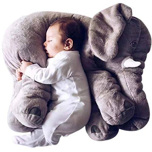 NOBUNO Cojín de Felpa de Elefante Infantil Suave para el sueño Cuddly Animals Toy Baby Boy Chapated Gifts para niños,60cm