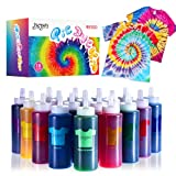 Joyjoz Tie Dye Kit, 36 Bags Pigment 18 Colors Tye Dye Kit for Adults and Kids, Tie Dye with Rubber Bands, Gloves, Apron, DIY Art and Craft Kit for Clothing, T-Shirt, Tie Dye Party Supplies(80 ml)
