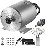 VEVOR Electric Brushless DC Motor,72V 3000W Brushless Electric Motor,4900RPM Brushless Motor Kit,w/Controller and Throttle Grip for Electric Scooter E Bike Engine Motorcycle DIY Part Conversion Kit
