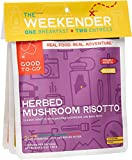 GOOD TO-GO Weekender 3-Pack Vegan   2 Entrees + 1 Breakfast   Herbed Mushroom Risotto, Oatmeal, Classic Marinara with Pasta   Dehydrated Backpacking and Camping Food   Gift Ideas   Easy to Prepare