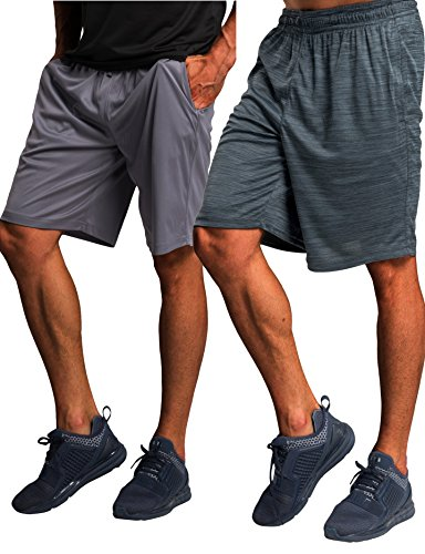 CYZ Men's Performance Running Shorts -GreyCharcoalMelange2PK-XL