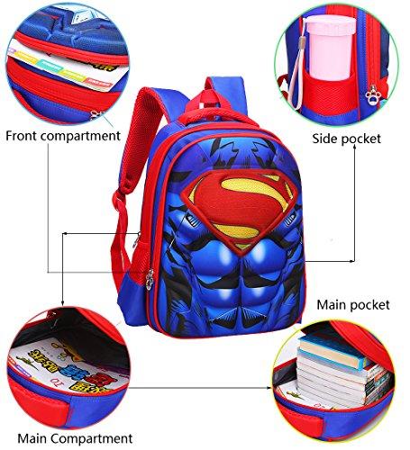 51k02B6KKCL - Mochila para niños Mochila primaria superhéroe hombre araña mochila para niños
