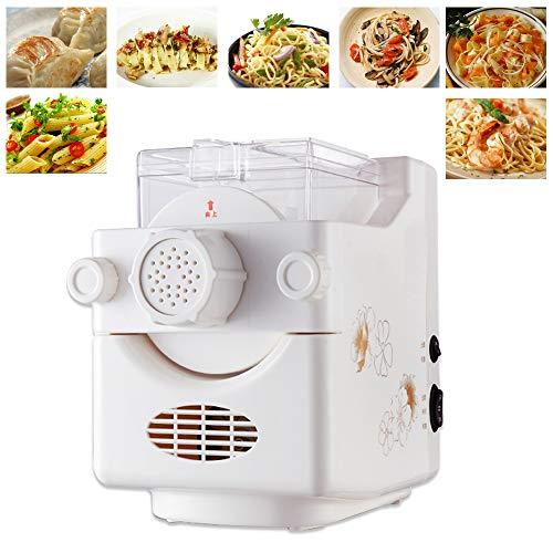 Pastamaker mit 9 Formscheiben YUNRUX vollautomatische Nudelmaschine elektrische Pastamaschine für Nudeln Hohlnudeln Pasta Weiss