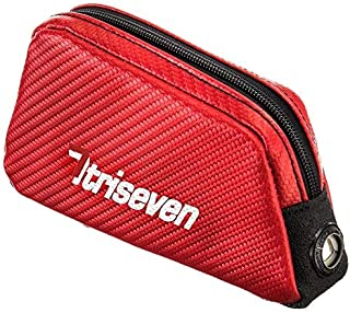 TriSeven Aero 20 Carbon Cycling Frame Bag - Lightweight Storage for Triathlons & MTB | Holds Most Cell Phones, Wallets, 7 Gels, Pump, Tools and More!