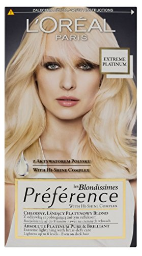 L'Oreal Paris les Blondissimes Extreme Platinum Preference Haar Farbe