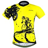 Men Cycling Jerseys Shirts Breathable Quick Dry Short Sleeves Suit...