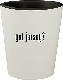got jersey? - White Outer & Black Inner Ceramic 1.5oz Shot Glass