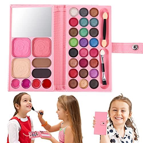 FORMIZON Juego de Maquillaje Lavable para Niños, Kit de Maquillaje para Niño, Maquillaje Infantil, Juguete de Maquillaje Cosméticos Lavable Maquillaje para Niñas en Fiesta Cumpleaños