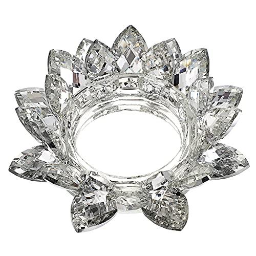 SUMTREE - Portavelas de cristal con flor de loto para vela votiva...