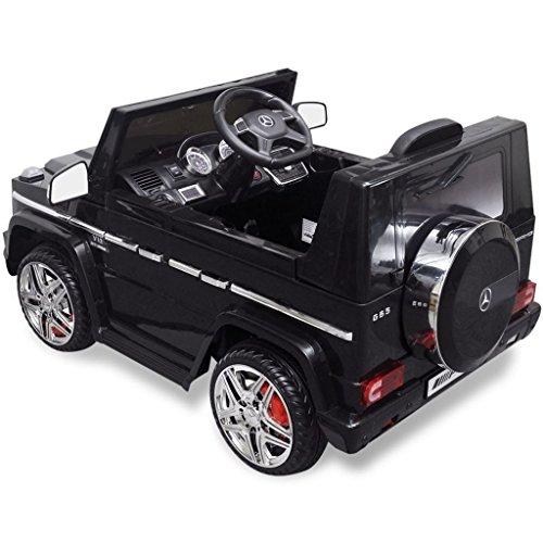 RC Auto kaufen Kinderauto Bild 3: vidaXL Kinderauto 2 Motoren 2x15W Schwarz Kinder Elektroauto Kinderfahrzeug*