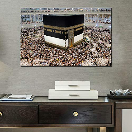 N / A Modern Style Poster and Engraving Wall Art Canvas Wall Decoration Painting Temple Picture for Living Room Wall Frameless 70x105cm