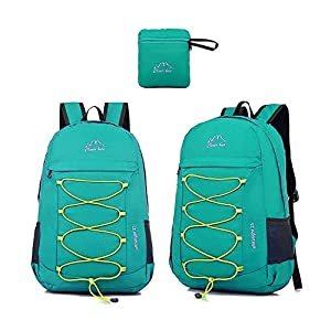 CLEVER BEES Backpack Foldable Ultra Lightweight Outdoor Water Resistant Hiking Backpack for Travel, Champing, Hiking, School Sports, Teal